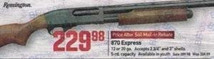 870 Express Shotgun After Rebate