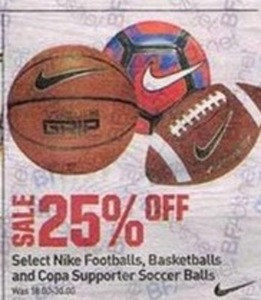 Nike Footballs, Basketballs and Copa Supporter Soccer Balls