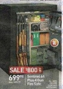 Sentinel 64 Plus 4 Gun Fire Safe