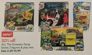 All The Grossery Gang Series 3 Figures and Play Sets