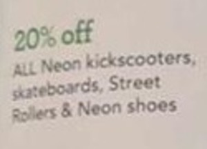 All Neon Kickscooters, Skateboards, Street Rollers & Neon Shoes