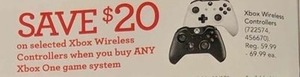 Selected Xbox Wireless Controllers When You Buy Any Xbox One Game System