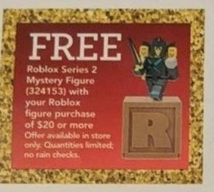 Free Roblox Series 2 Mystery Figure w/ Roblox Figure Purchase of $20