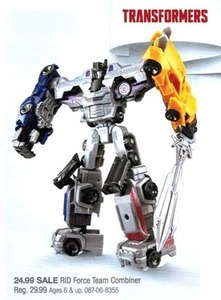 Transformers RID Force Team Combiner