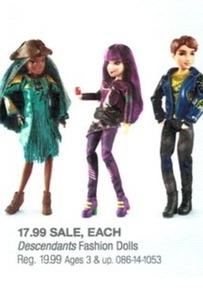 Disney Descendants Fashion Dolls