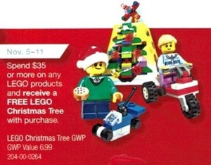 Free Lego Christmas Tree w/ Purchase $35 or more on any Lego