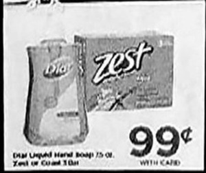 Dial Liquid Soap or Zest Soap