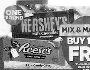Hershey's Milk Chocolate or Reeses 1lb Candy Gifts