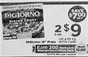 DiGiorno 12-in. Pizza + $2 PP