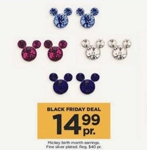 Mickey Birth Month Earrings
