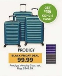 Prodigy Velocity 3-pc. Set + $15 Kohl's Cash