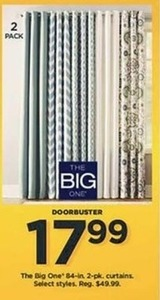 The Big One 84-in. 2-pk. Curtains