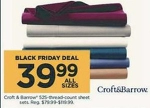 Croft and Barrow 525 Thread Count Sheet Sets