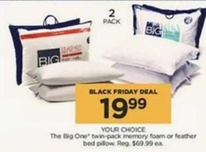 The Big One Twin-pack Pillows