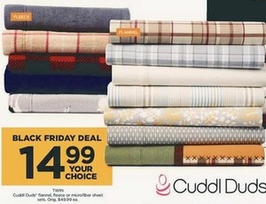Cuddl Duds Flannel, Fleece, or Microfiber Twin Sheet Sets