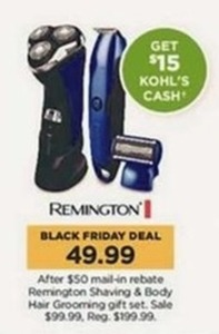 Remington shaving and body hair grooming gift set after rebate + $15 Kohl's Cash
