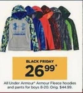 All Under Armour Boys' Fleece Hoodies & Pants