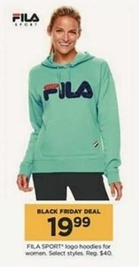 FILA SPORT Logo Hoodies for Women