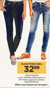 women Levi's mid rise skinny jeans or 711 skinny jeans for women