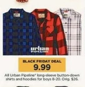 Boys All Urban Pipeline Long Sleeve Button-down Shirts