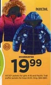 SO& Pacific Trail Jackets for Girls and Boys