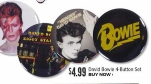David Bowie 4-Button Set