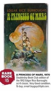 A Princess of Mars, 1970 Edition