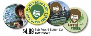 Bob Ross 4-Button Set