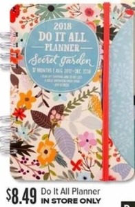 2018 Do It All Planner
