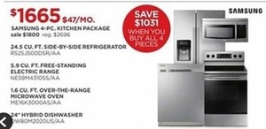 Samsung 4-PC. Kitchen Package
