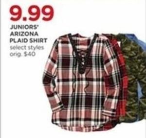 Juniors' Arizona Plaid Shirt