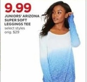 Juniors' Arizona Super Soft Leggings Tee