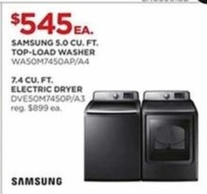 Samsung 5.0 CU. FT. Top-Load Washer