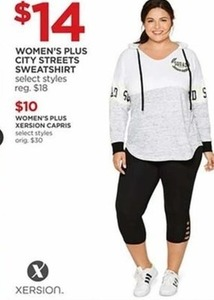 Women's Plus Xersion Capris