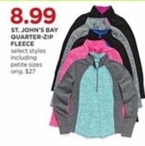 St. John's Bay Quarter-Zip Fleece