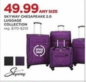 Any Size Skyway Chesapeake 2.0 Luggage Collection