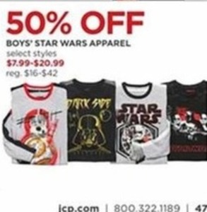 Select Boys' Star Wars Apparel