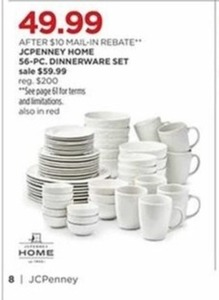 JcPenney Home 56-Piece Dinnerware Set
