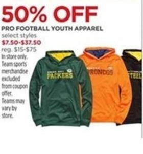 Youth Pro Football Apparel