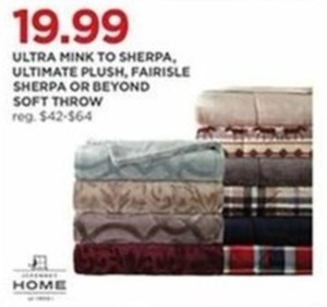 Ultra Mink to Sherpa, Ultimate Plush, Fairisle Sherpa or Beyond Soft Throw