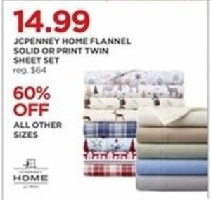 Home Flannel Solid Or Print Twin Sheet Set