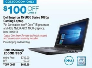 Dell Inspiron 15 5000 Series 1080p Gaming Laptop