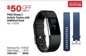 Fitbit Charge 2 Activity Tracker w/ Additional Band