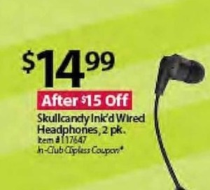 Skullcandy Ink'd Wired Headphones 2-Pack