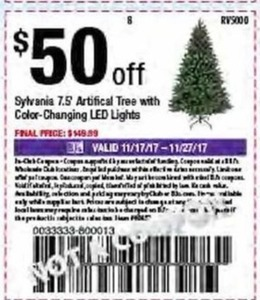 Sylvania 7.5' Artificial Trree with Color Changing LED Lights