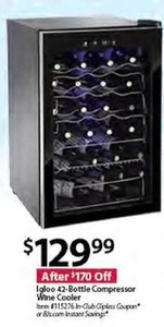 Igloo 42-Bottle Compressor Wine Cooler