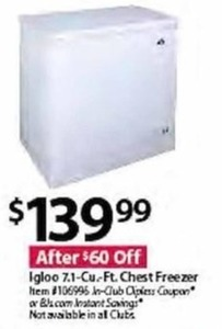 Igloo 7.1-Cu Ft. Chest Freezer