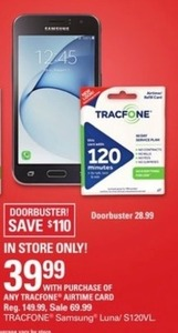 Samsung Luna w/ Tracfone Airtime Card Purchase
