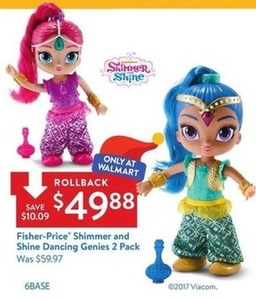 Fisher-Price Shimmer and Shine Dancing Genies 2pk