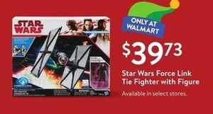 Star Wars Force Link Tie Fighter With Figure